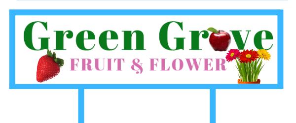 Green Grove Fruit & Flower Logo